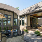 The Danube Plan Front Porch Craftsman Exterior