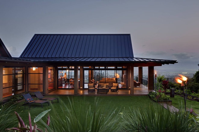 Tropical Exterior by McClellan Architects