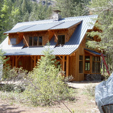 Rustic Exterior by Shuler Architecture