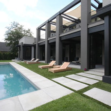Contemporary Exterior by Allen Saunders, Inc.