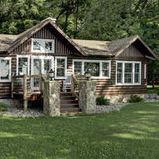 Rustic Exterior by Michelle Fries, BeDe Design, LLC