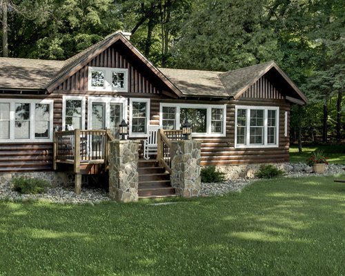 Cabin paint houzz for Cabin exterior paint colors