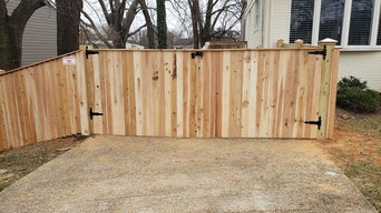 Wood Fencing Work by A-1