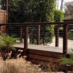 SD Cable Railings - wood framed cable railing systems - Pre drilled posts, cable assemblies and top railings for contractor or DIY install