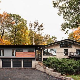 75 Split Level Exterior Home Design Ideas Stylish Split