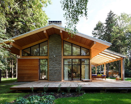 Gable overhang patio home design ideas pictures remodel and decor - Houses overhang practical design ...