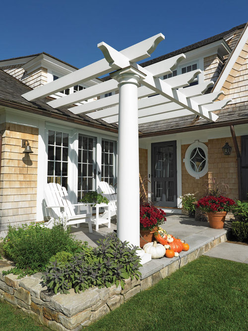 Pergola with roof home design ideas pictures remodel and for 10 foot porch columns