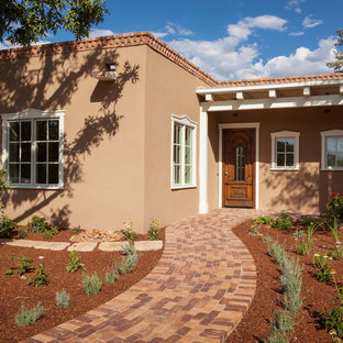Inspiration for a southwestern exterior home remodel in Albuquerque
