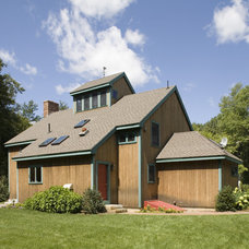 Contemporary Exterior by Habitat Post & Beam, Inc.