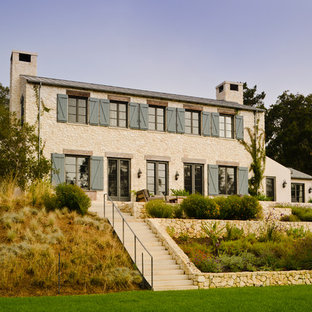 Tuscan stone exterior home photo in San Francisco