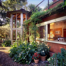 Eclectic Exterior by Cathy Schwabe Architecture