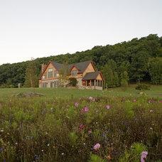 Traditional Exterior by Habitat Post & Beam, Inc.