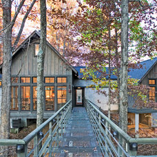 Rustic Exterior by Gilbert | McLaughlin | Casella Architects, PLC