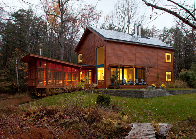 Contemporary Exterior by Hall Smith Office_Architecture