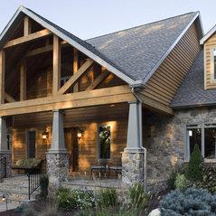 Woodsy Stone Exterior