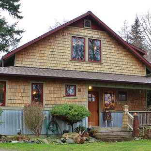 Example of a classic exterior home design in Seattle