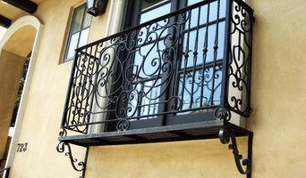 Wrought iron Juliette balcony