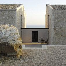 Mediterranean Exterior by Corfu Villa Construction