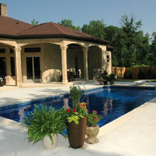 Mediterranean Exterior by Homeworks of Alabama, Inc