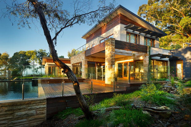 Contemporary Exterior by Solar Solutions Design