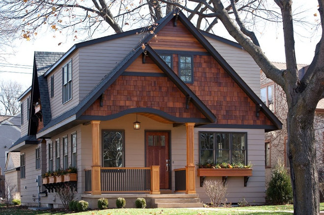 Transitional Exterior by Orfield Remodeling, Inc