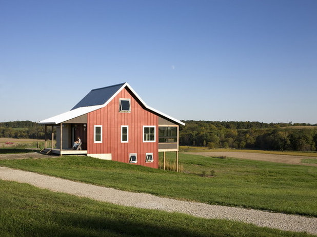 Farmhouse Exterior by DeForest Architects