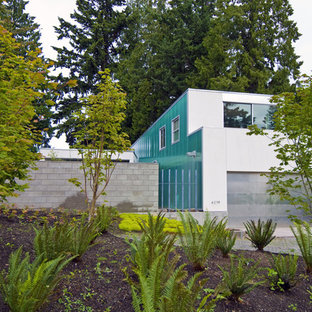 Blaues Modernes Haus in Seattle