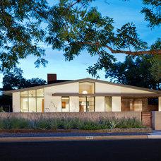 Midcentury Exterior by Redbud Custom Homes
