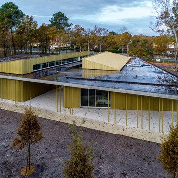 Centre culturel le Pian Médoc : mix photos drone et photos sol