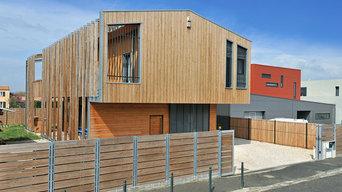 Construction d'un atelier de menuiserie et d'un logement