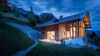 Construction d'un chalet contemporain à Sallanches, Haute Savoiecon