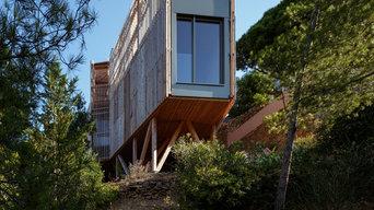 Construction d'une maison sur pilotis bois