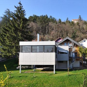 Extension CC - Architecte: Préo Architecture - Une façade contemporaine