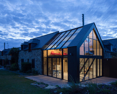Contemporary maison ancienne avec extension contemporaine - Extension maison design ...