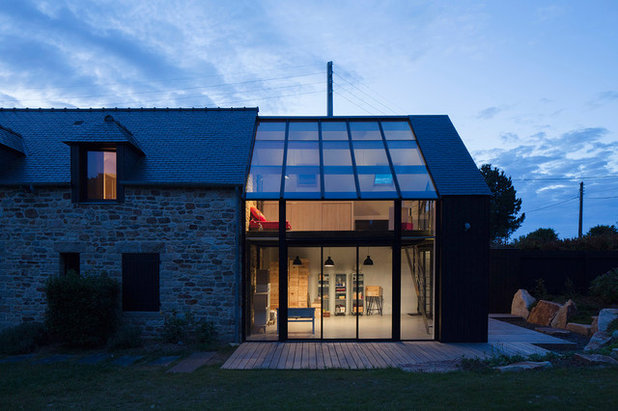 Architecture une extension en verre pour une maison de for Architecture en verre