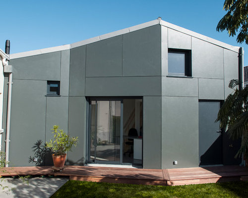 Photos d 39 architecture et id es d co de fa ades de maisons contemporaines - Couleur facade tendance ...