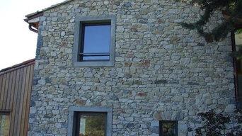 Extention de maison en pierre