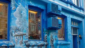 Fresque sur mur extérieur