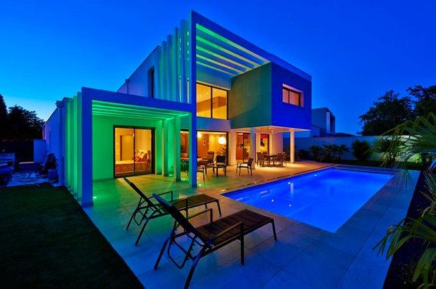 Conseils de pro pour prendre des photos de nuit for Eclairage exterieur maison contemporaine