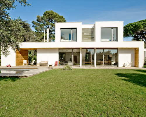 photos d 39 architecture et id es d co de fa ades de maisons modernes. Black Bedroom Furniture Sets. Home Design Ideas