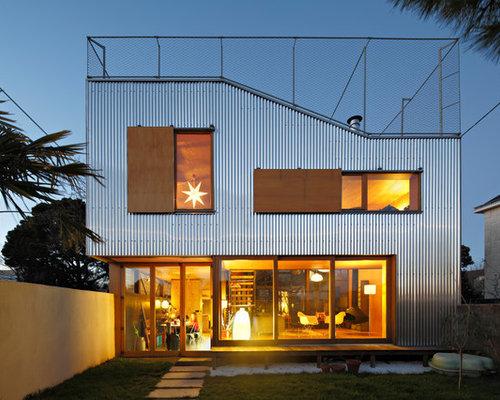 photos d 39 architecture et id es d co de fa ades de maisons de taille moyenne. Black Bedroom Furniture Sets. Home Design Ideas