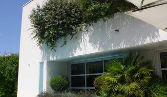 Maison bioclimatique contemporaine avec piscine