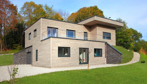 Visite priv e une maison en bois au confort tout fait moderne - Checklist visite maison ...