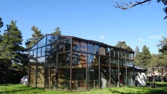 maison bois sous verre