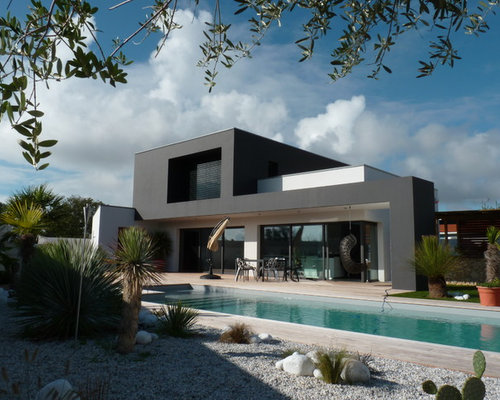 Photos d 39 architecture et id es d co de fa ades de maisons for Maison contemporaine design