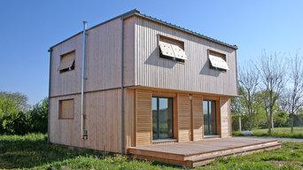 Maison contemporaine écologique de niveau passif