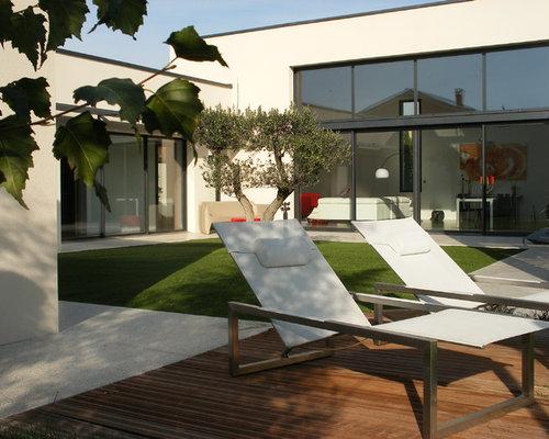 Foto e idee per facciate di case facciata di una casa lione for Grandi piani di una casa a 1 piano