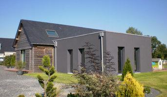 Maison d'habitation bardage bois en 2011 et extension maçonnerie en 2015