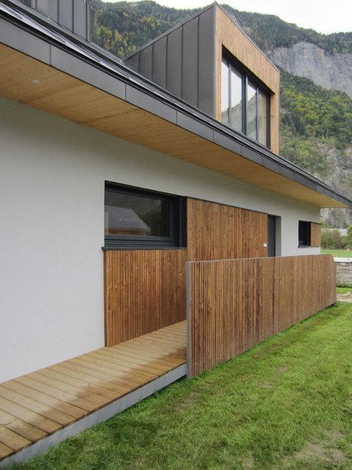 Exemple de facade de maison plan gratuit maison r1 6 for Exemple de couleur de facade de maison