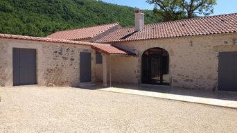 Maison en pierre brut